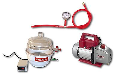 Heatvacxl Plus W5cfm Pump Heated Vac Extract Degas Solvent Concentrate Purge Oil