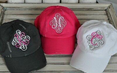 Bachelorette Bridesmaid Monogram Baseball Hat Gift, Very Cute Highly Desireable  - Cute Bridesmaid Gifts