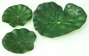 3-x-Pond-Leaves-Replica-Artificial-Lotus-Foliage-Imitation-Synthetic-Lily-Leaf