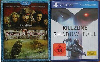 PS4 Spiel KILLZONE (NEU &OVP) + Blu-ray Pirates of the Caribean am Ende der Welt