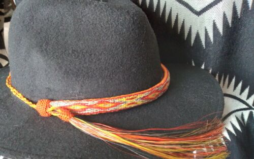 NEW MONTANA STATE PRISON MADE HAND HITCHED HORSE HAIR ADJUSTABLE HAT BAND