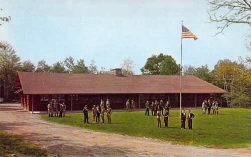 PA Blakeslee NEW LODGE Camp Acahela BOY SCOUTS OF AMERICA MINT postcard BS3