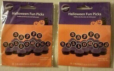 Wilton Happy Halloween Cupcake/Food Picks Fun Pix 2 Pk of 14 each (28 total) 3