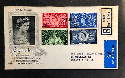 Great Britain-Oman 1953 Coronation FDC First Day cover
