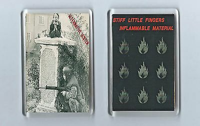 Magnets x 2 : STIFF LITTLE FINGERS alternative ulster inflammable material PUNK