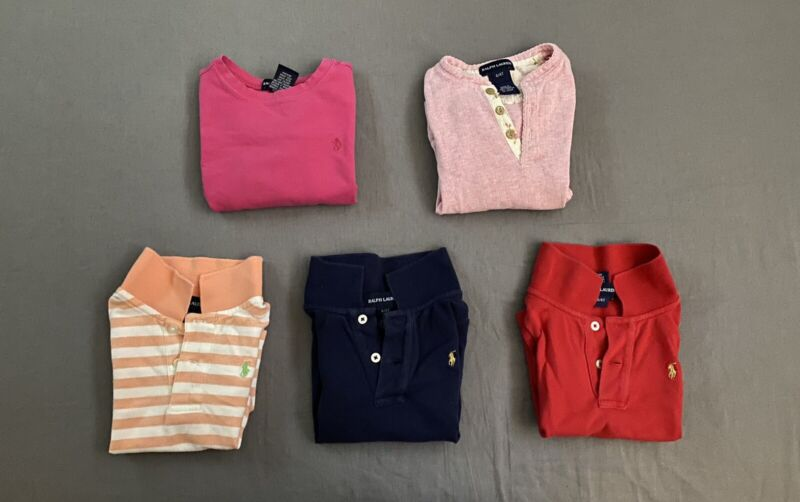 Ralph Lauren Girls Shirt Size 4 Lot
