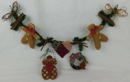 "Vintage ~ GINGERBREAD 24"" SWAG GARLAND ~ Christmas Decor Bonus Items"