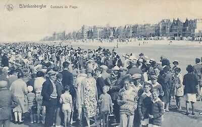 carte postale    blankenberghe    concours de plage