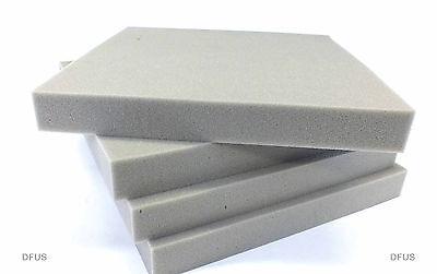 """5x grey foam pads 600mm x 600mm x 25mm (24""""x24""""x1"""") Camera case protection foam"""