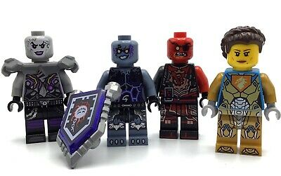 LEGO LOT OF 4 NEXO KNIGHT MINIFIGURES CASTLE FIGS