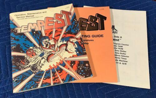 Original Atari Tempest Video Arcade Game Parts Operating Manual Schematics Pkg