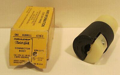 1 Hubbell HBL45235 Veriload Twist-Lock Connector Body