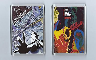Magnets x 2 : STIFF LITTLE FINGERS Hanx Go For It PUNK