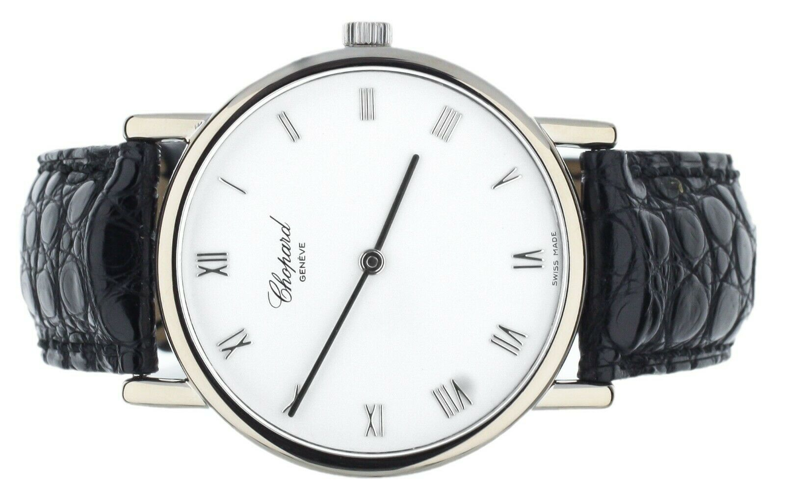 CHOPARD WHITE GOLD 987 LUS MANUAL WIND WATCH 34MM COMPLETE