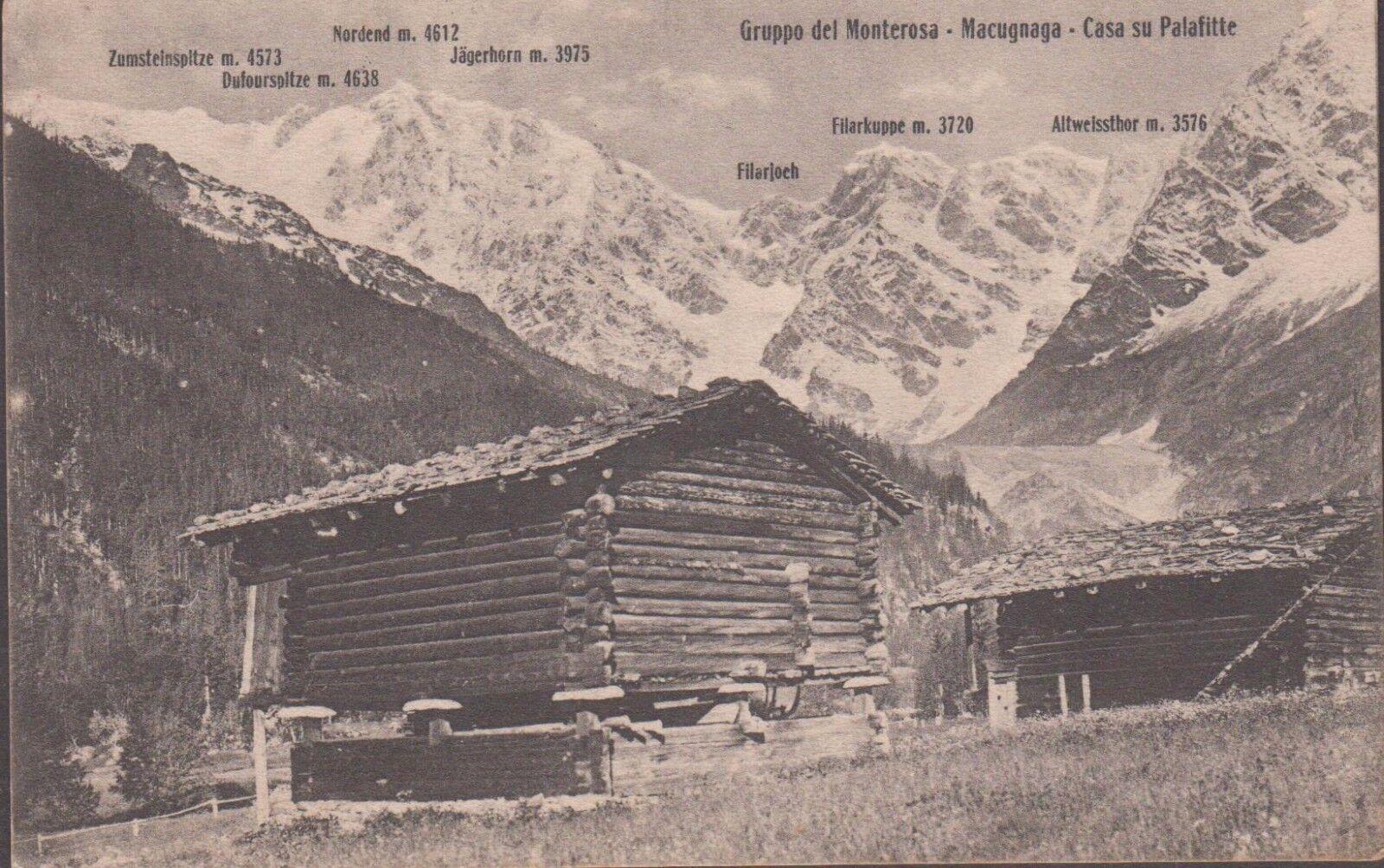 Gruppo del Monterosa - Macugnana - Casa su Palafitte - Viaggiata.