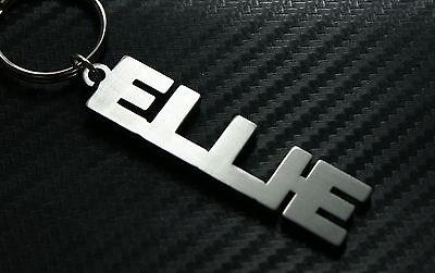 ELLIE Personalised Name Keyring Keychain Key Fob Bespoke Stainless Steel Gift