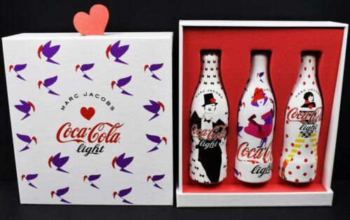 *Designer Marc Jacobs Coca Cola Light Aluminum 3 Bottle Box Set I LOVE 80/90/00