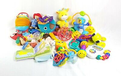 Baby/Toddler Large Lot of 19 Mixed Brand Sensory Toys Lamaze Octopus