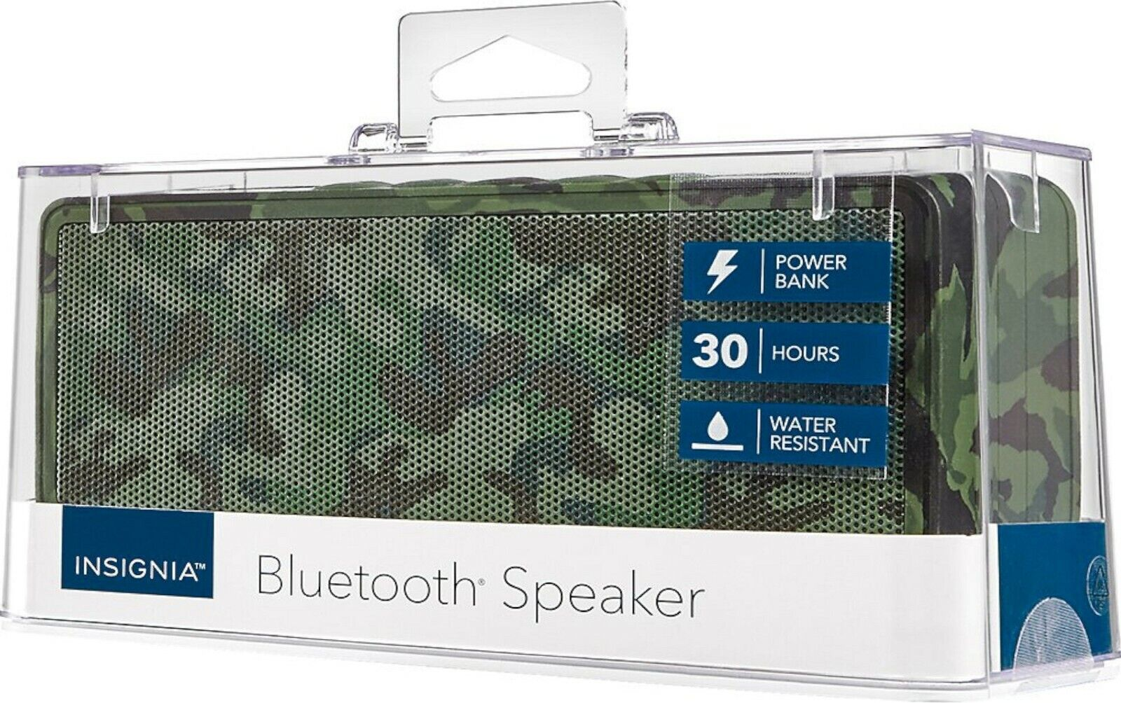 Insignia Portable Bluetooth Stereo Speaker with Power Bank -