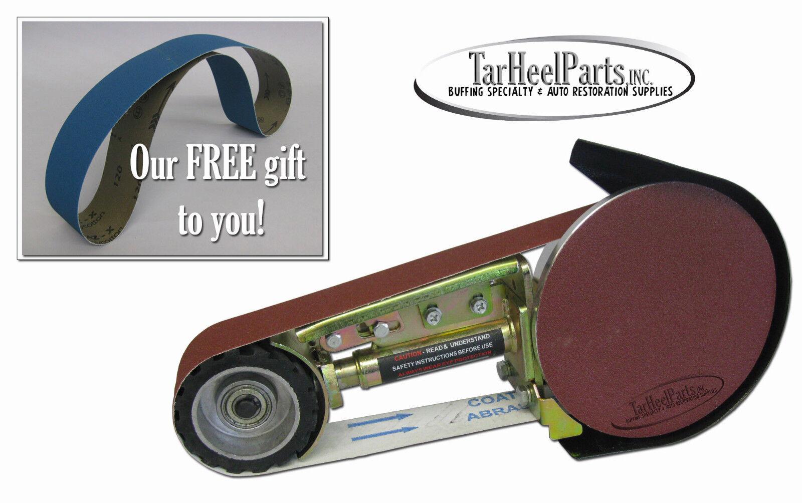 """MultiTool 2"""" x 36"""" Disk & Belt Sander / Sanding Attachment for Bench Grinder"""