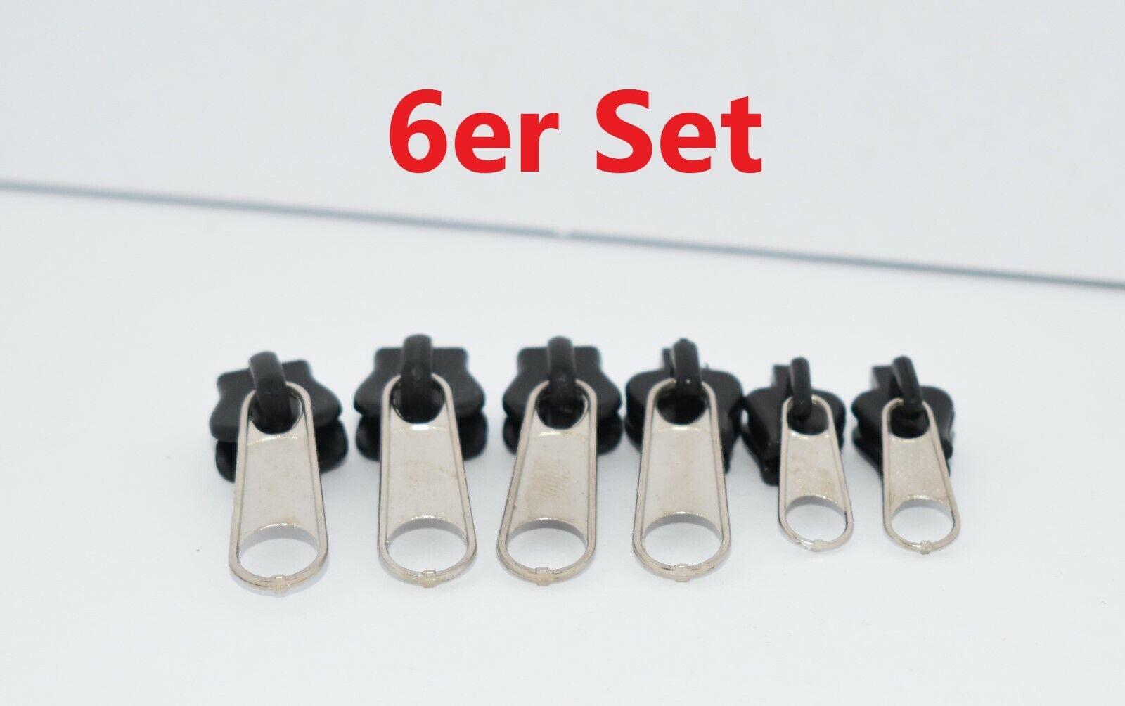 6er ZipperFix Reißverschluss Reperaturset Schieber Kunststoff Fix a Zipper