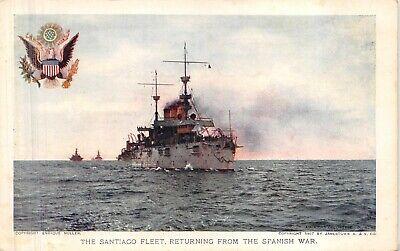 Santiago Fleet returning from Spanish War JAMESTOWN EXPO Souvenir POSTCARD