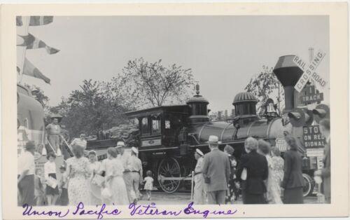 NICE 1948 Union Pacific Locomotive #18 Train Railroad RPPC Real Photo Postcard