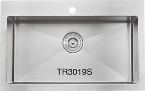 """High end Handmade drop-in sink 30""""x20""""x10"""" for $259!!!!"""