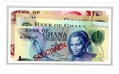 Ghana ... P-CS1 ... 1,2,5,10 Cedis ... 1977 ... Choice *UNC*.