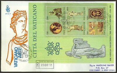 Vatican Stamps - Registered Fdc