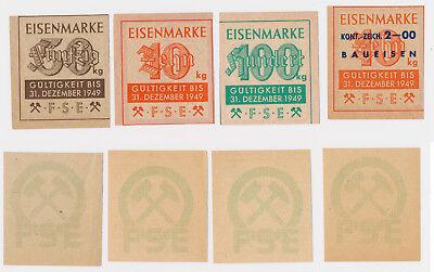 Eisenmarke 4x Eisenmarken 1949 Baueisen  Lebensmittelmarke Lebensmittelkarte (21