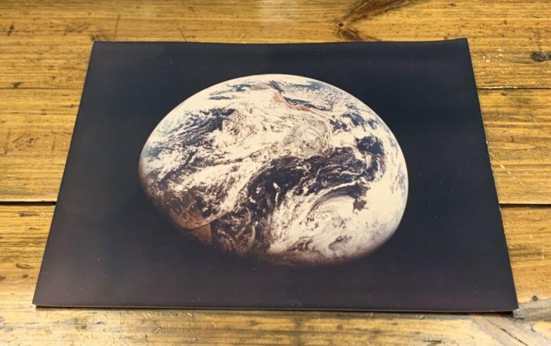 "ORIGINAL 1960s NASA EARTH PHOTOGRAPH 11""x14"" A KODAK PAPER MCDONNELL DOUGLAS"