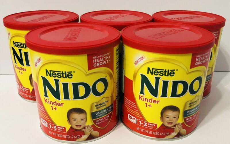 Lot of 5 Sealed Nestle Nido Kinder 1+ for 1-3 Year Olds - 12.6 oz (Total 63 oz)