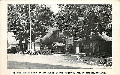 Postcard Postcard Pig & Whistle Inn Standard Hotel Bronte Canada Highway No 2 (Bronte Canada)