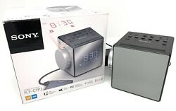 Sony ICF-C1PJ Alarm Clock FM/AM Radio with Time Projection - Black - ICFC1PJ