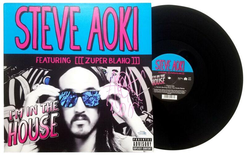 Steve Aoki Autographed Signed I'm In The House Album LP ACOA