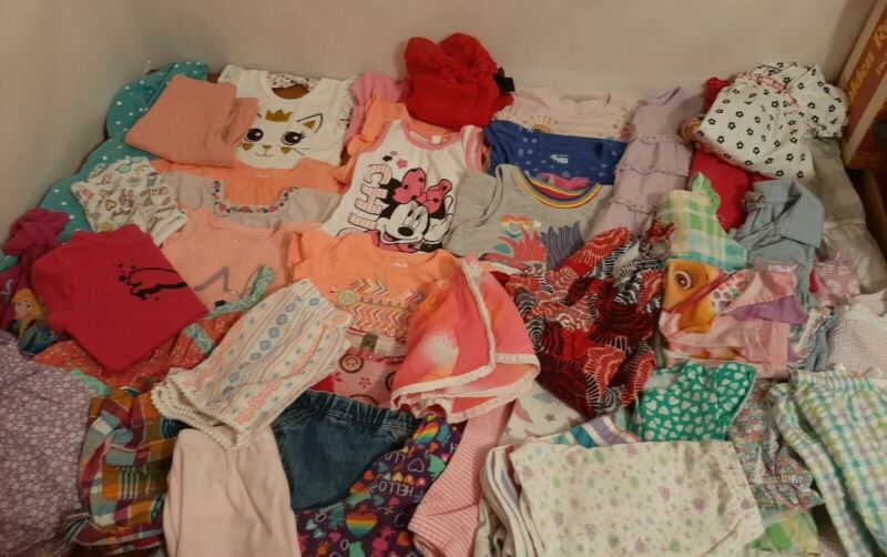 Lot Of 45 Toddler 24 Months/2T Girl Spring/Summer Clothes -