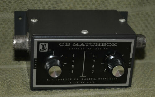 Vintage E.F. Johnson CB Matchbox Model 250-49 Made in USA Antenna Tuner