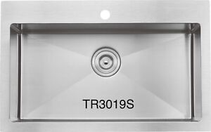 """High end Handmade drop-in sink 30""""x19""""x10"""" for $259!!!!"""