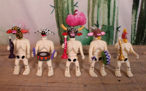 Skeleton Band with Animal Heads Day of the Dead Handmade Oaxaca Mexican Folk Art