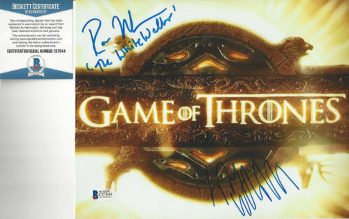 Game of Thrones Shae Sibel Kekilli & White Walker Autographed 8x10 photo Beckett