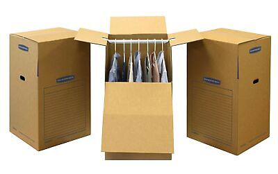 Smoothmove Wardrobe Moving Boxes Alto 24 X 24 X 40 Pulgadas Paquete De 3