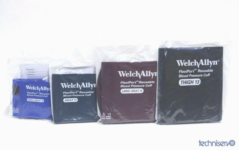 Welch Allyn FlexiPort Blood Pressure Cuffs - Adult 10,11, 12 & 13 Set