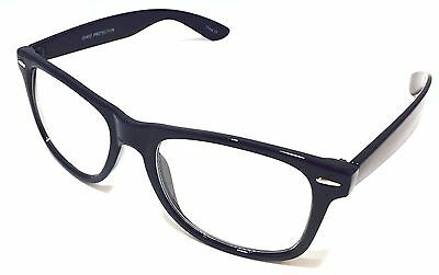Unisex Retro Glasses Nerd Geek Hipster Fake Eye Glasses Medium Clear Lens 100% U (Fake Eyeglasses)