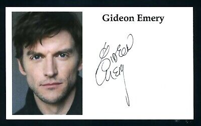 Gideon Emery Voice Actor Call of Duty games, Mentalist Signed 3x5 Card C14885
