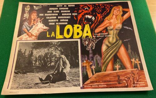 """""""La Loba"""" Mexican Horror Movie Lobby Card, Full Color, Fine Condition"""