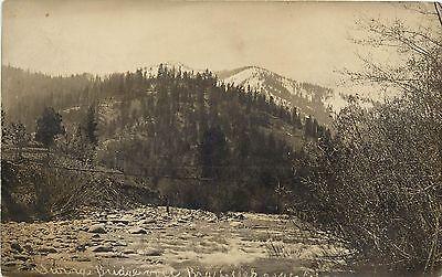 1910S Rppc Postcard Swinging Bridge Over Big Creek Near Etna Ca Siskiyou County