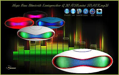 Mega Bass Bluetooth Lautsprecher Q30 (USB,micro SD,Radio FM,AUX,mp3)  ()