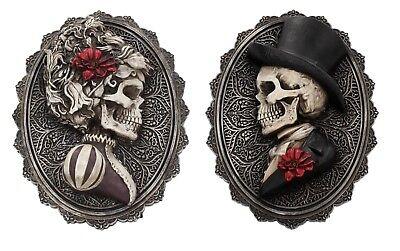 l Wand Halterung Schild Skelett Gotik Dekoration Figur Gift (Sugar Skull Dekoration)