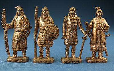 4x Metallfiguren - Mongolen um 1600 - RP 1482 - Mongolist 1-4 - Komplettsatz